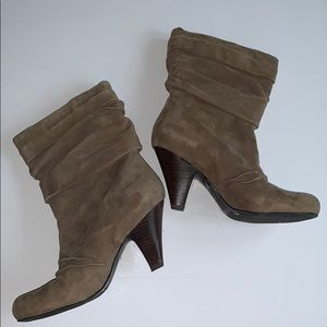 Jessica Simpson Tan/Brown Slip on Suede Booties